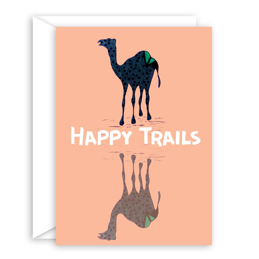 Happy Trails – blank encouragement card