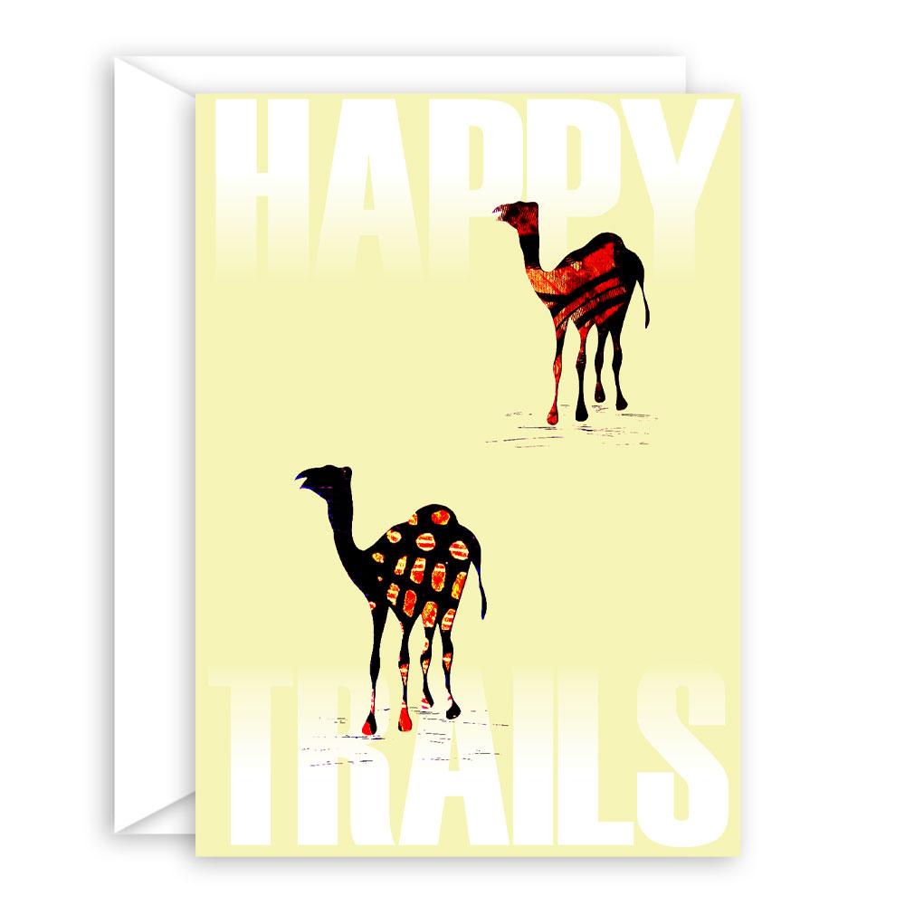 Happy Trails II – blank encouragement card