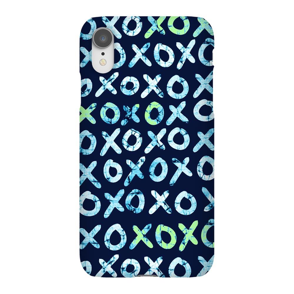 Batik Indigo Hugs + Kisses (XOXO) iPhone Case