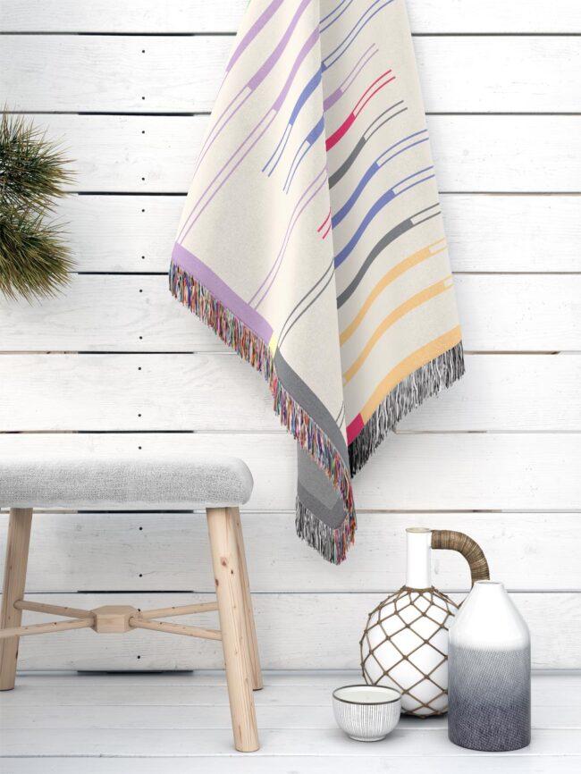 Fula I (dawn) – inspired by Fulani Wedding Blankets