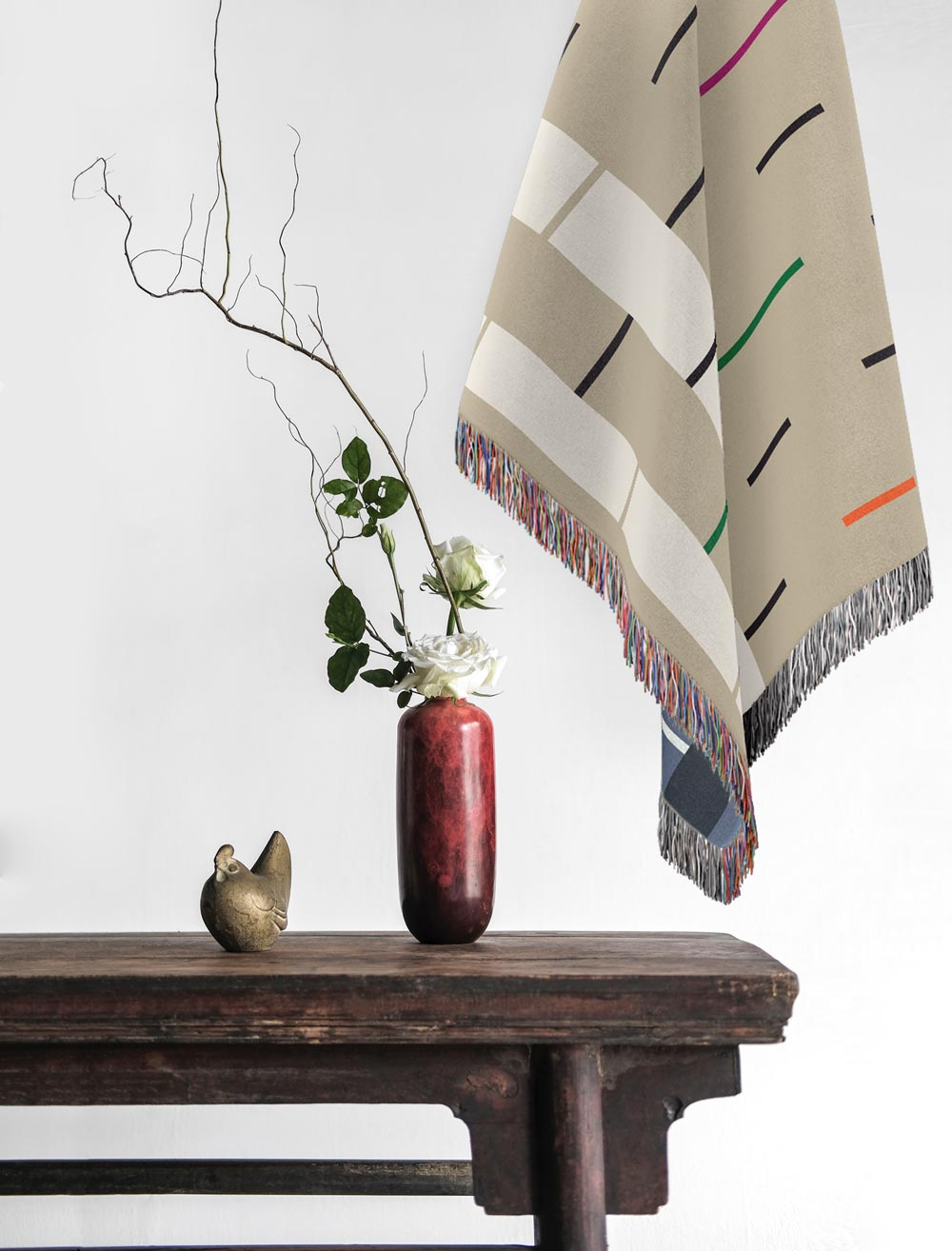 Fula IV (ripples) – inspired by Fulani Wedding Blankets