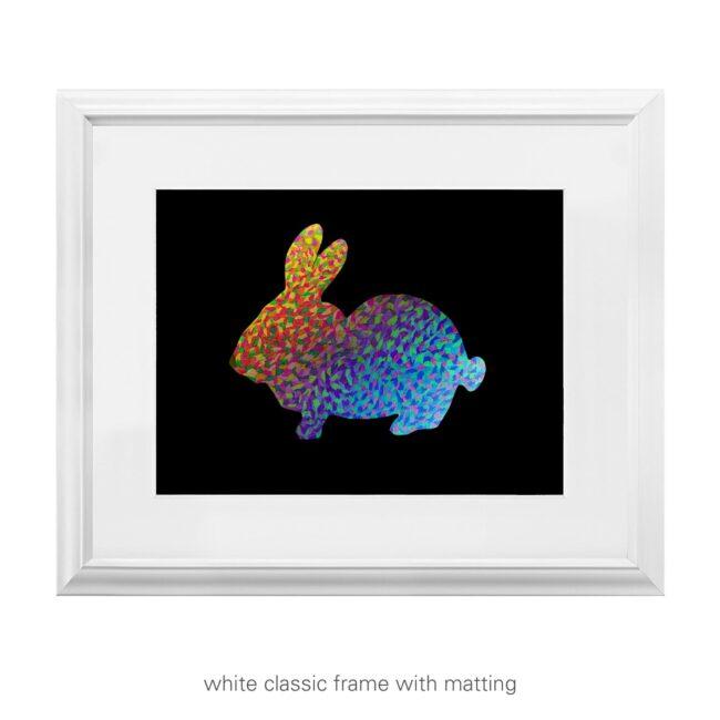 Rainbow Rabbit – quirky art print
