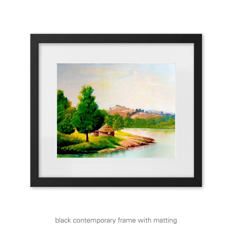 "Peaceful Landscape Art Print – ""Breathe"""