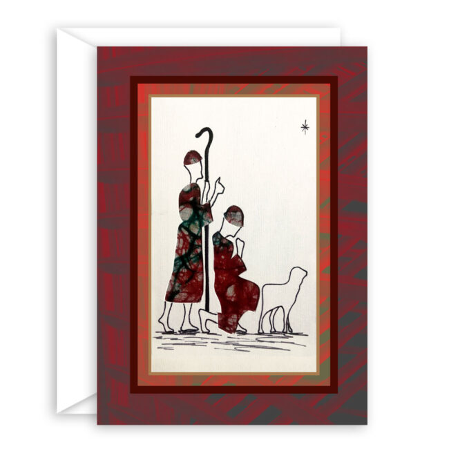 Traditional Christmas Card – Christmas greeting inside (10 cards)