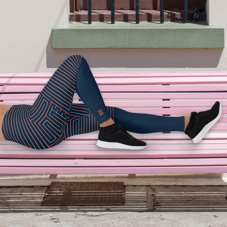 Blue & Orange Leggings – Life's Maze