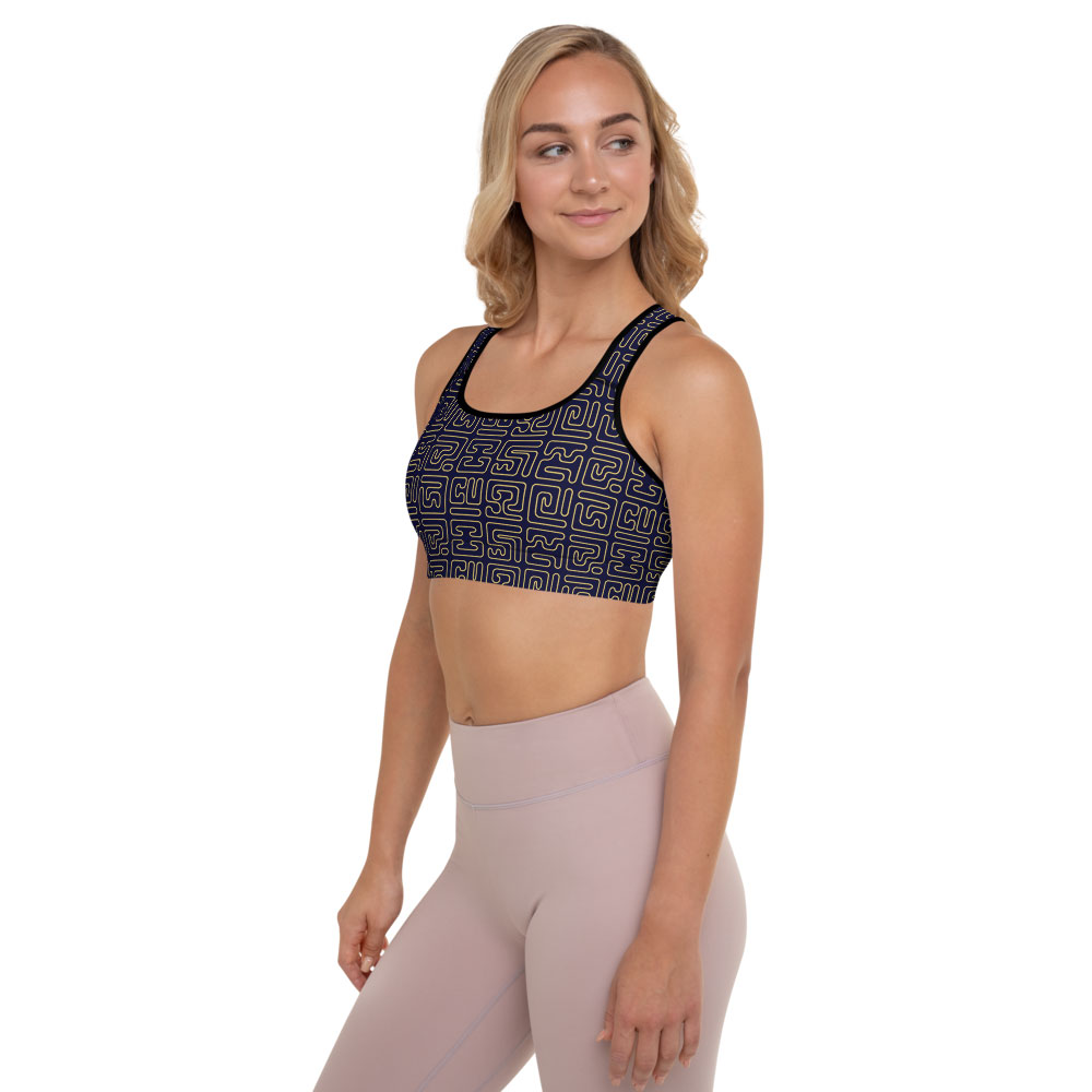 Blue & Gold Sports Bra – Kuba Blocks