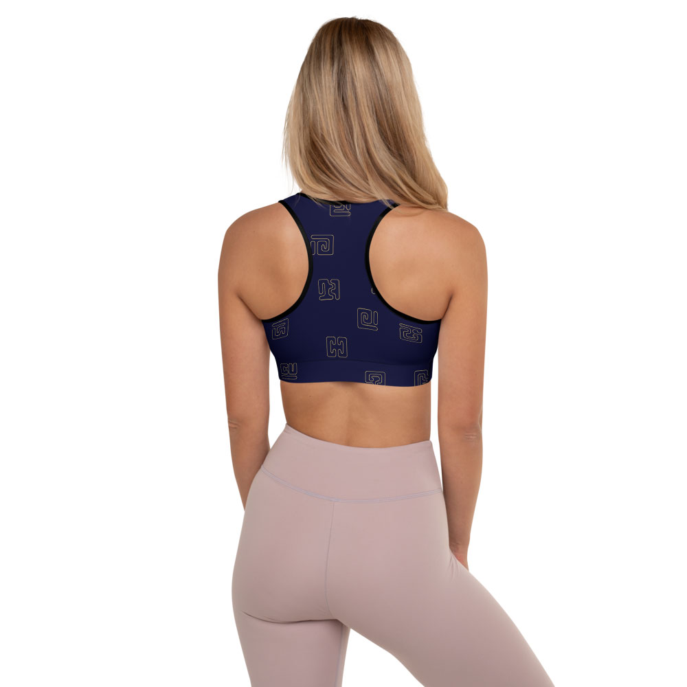 Blue & Gold Sports Bra – Kuba Glyphs