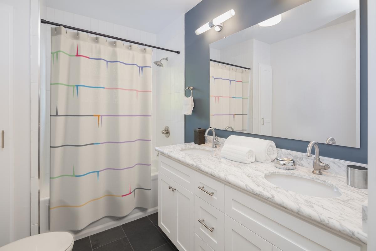 Modernist Striped Shower Curtain