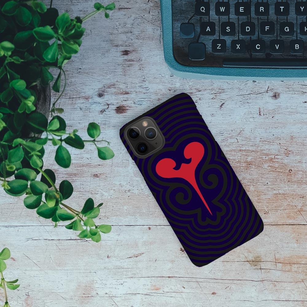 Sankofa in Black – Adinkra iPhone Case
