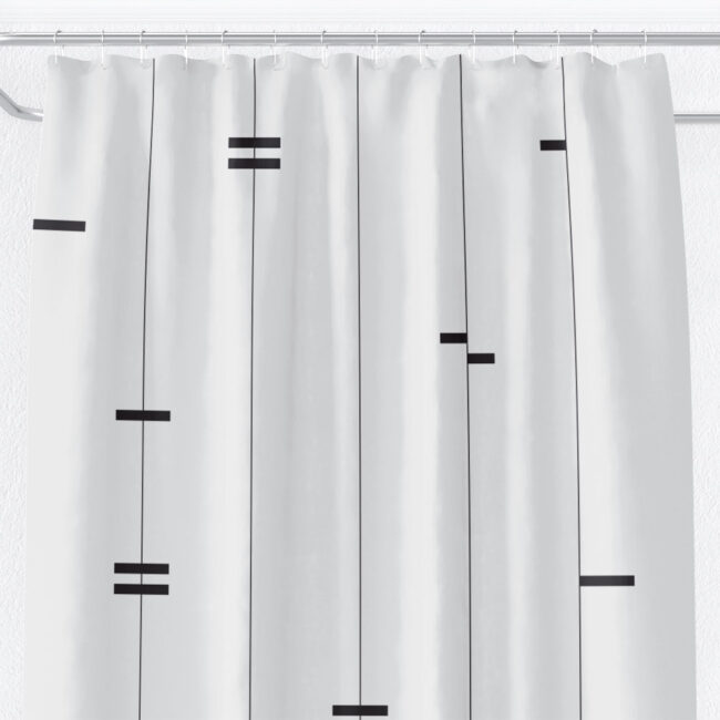 Abstract Mud Cloth Shower Curtain