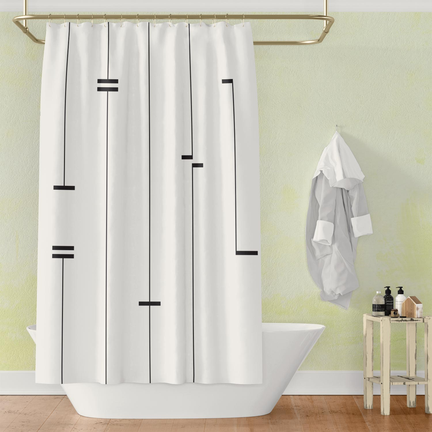 Abstract Mud Cloth Shower Curtain II