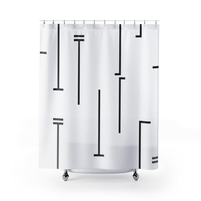 Abstract Mud Cloth Shower Curtain III (Bold Lines)