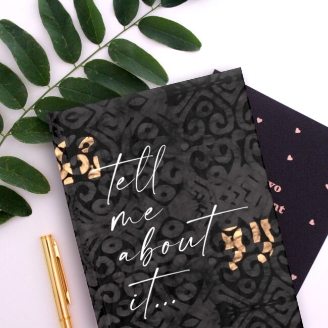 Tell Me About It – lined journal