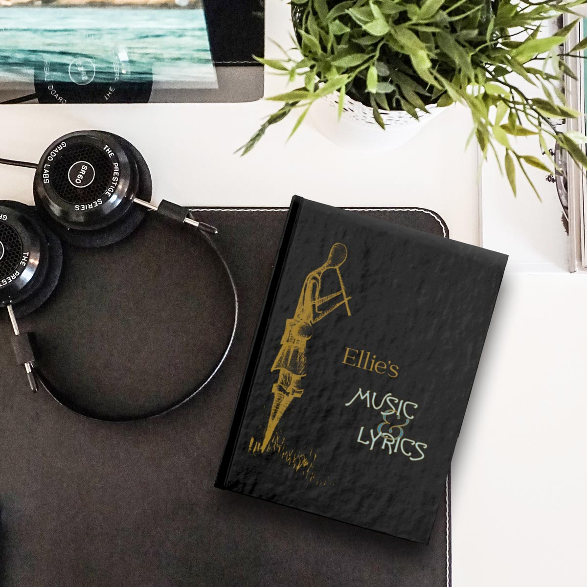 Personalized Songwriting & Lyric Journal – lined or blank