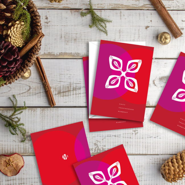 Abstract Holiday Card: Unity Togetherness Harmony (10 cards)