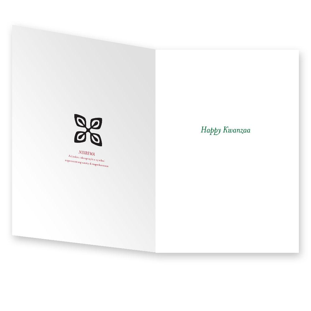 Kwanzaa Card with Adinkra Symbol Nsirewa (10 cards)