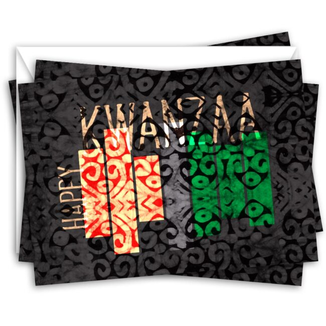 Modern Kwanzaa Card Set – blank inside (10 cards)