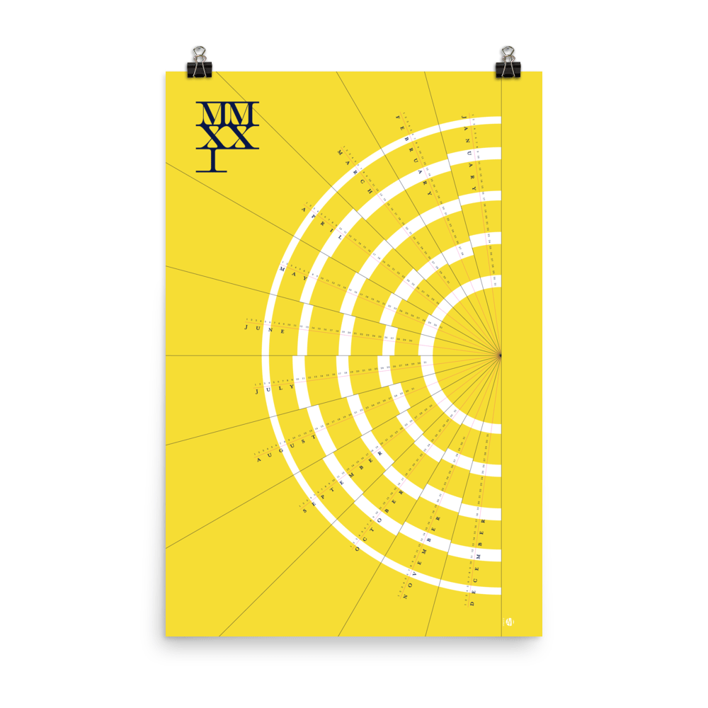 Modern Year-at-a-Glance 2021 Calendar – New Rays (Noon)