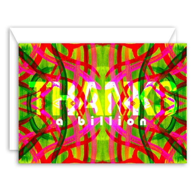 Thanks a Billion – blank thank you card set