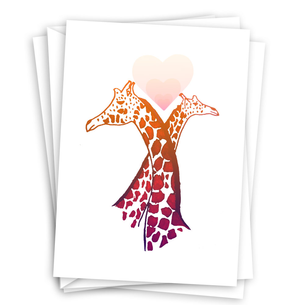 Love Eternal – giraffe themed card set