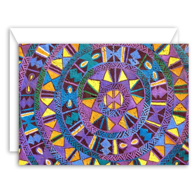 Abstract in Purple art card set (10 notecards)