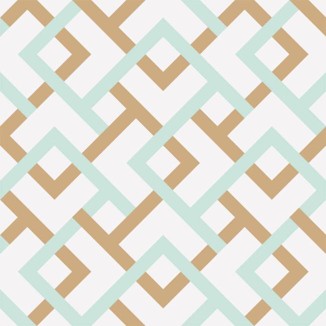 Diamond Cross Wallpaper in Coastal Colors
