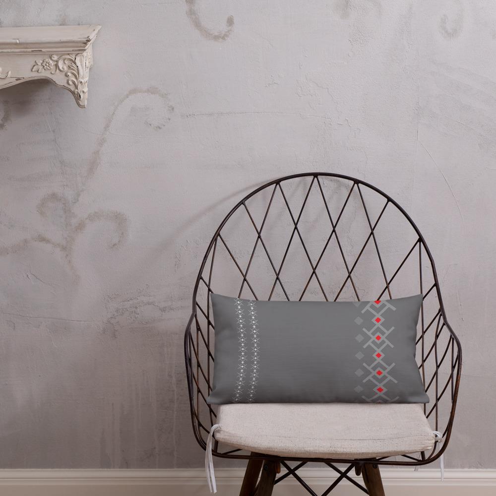 Grey Kuba / Scandi Minimalist Pillow – indoor/outdoor pillow