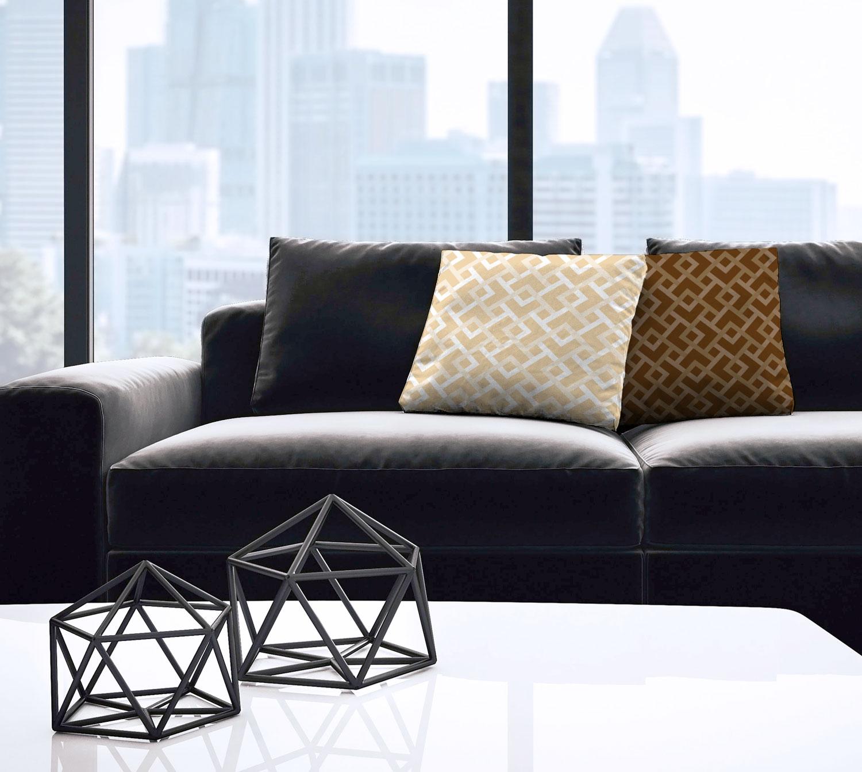 Off-White Diamond/Chevron Geometric Throw Pillow – indoor/outdoor pillow