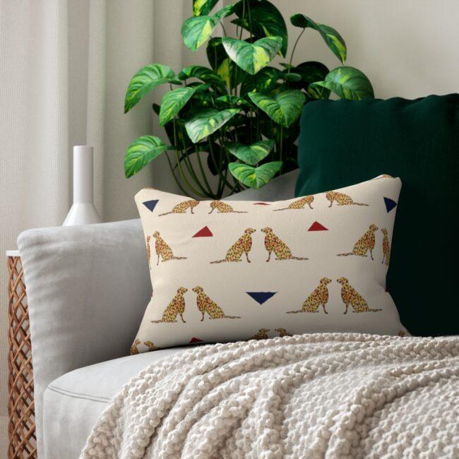 "Artsy ""Good Dog – 2"" Lumbar Pillow – indoor or outdoor"