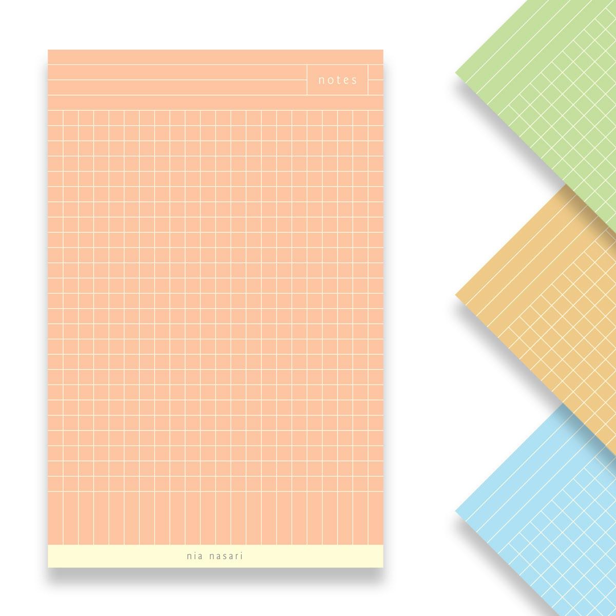 Customizable Grid Notepad