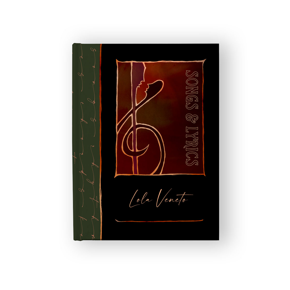 Customizable Songwriting & Lyric Journal with Treble Clef (black)