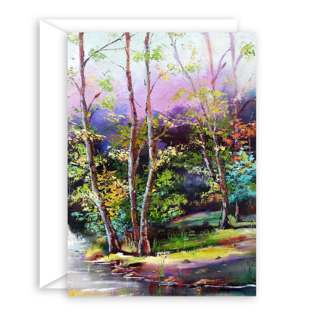 Whimsical Landscape Art Card Set – 10 assorted cards