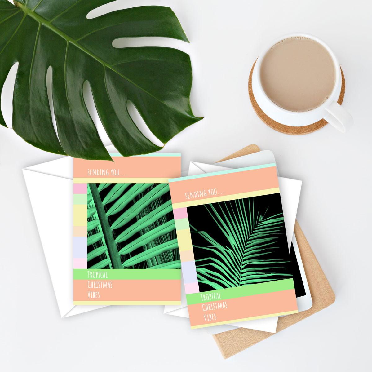 Sending You… Tropical Christmas Vibes – set of 10 cards